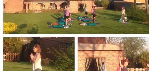 Buiten yoga in Lokeren